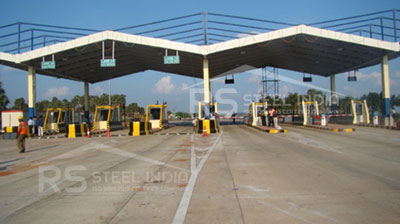 Toll plaza shed